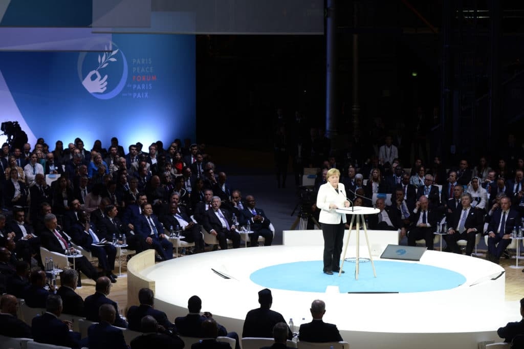 Angela Merkel Paris Peace Forum