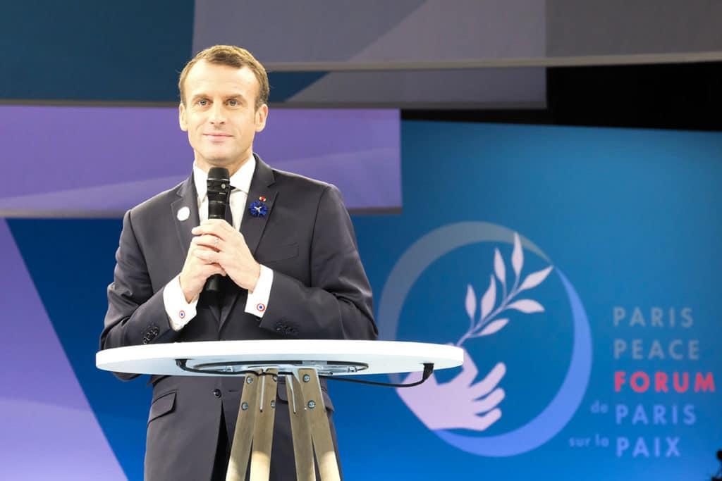 Emmanuel Macron Paris Peace Forum