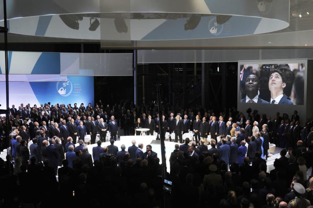 Paris Peace Forum opening ceremony 2018